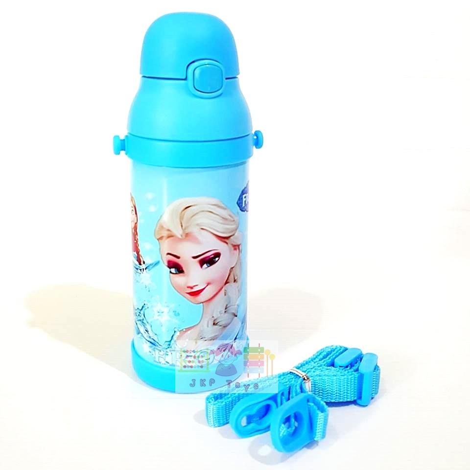 กระติกน้ำสแตนเลสเก็บความร้อน ความเย็น กระติกน้ำสำหรับเด็ก Frozen (ฟ้า)