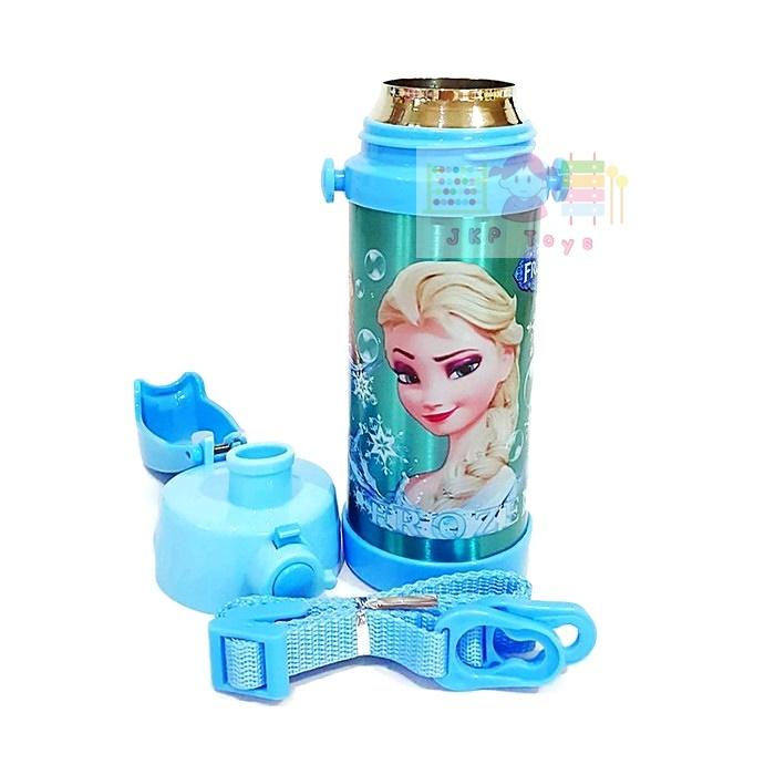 กระติกน้ำเก็บความร้อน-เย็น เเบบยกดื่ม Frozen (ฟ้า)