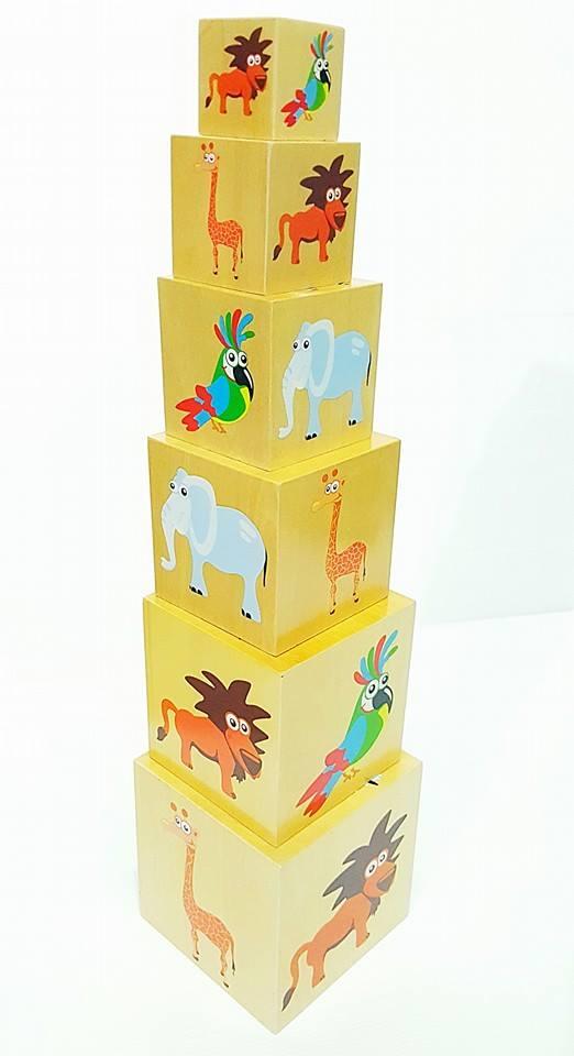 กล่องไม้เรียงซ้อน 6 ชั้น