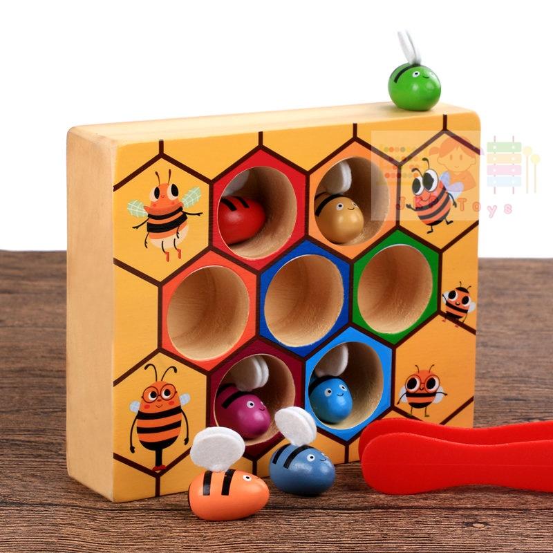 เกมส์คีบผึ้ง เสริมพัฒนาการหยิบจับคีบเเละสายตา