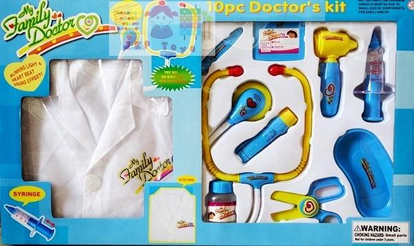 อุปกรณ์คุณหมอ พร้อมเสื้อกาวน์คุณหมอ