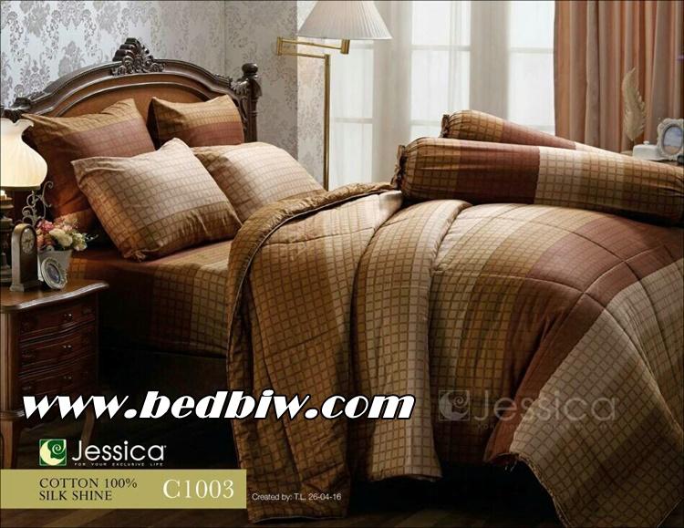 ชุดเครื่องนอน ผ้าปูที่นอน JESSICA Cotton 100% พิมพ์ลาย ดอกไม้ C1003 ใหม่ล่าสุด