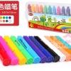Onshine Silky Crayons สีเทียนเนื้อนิ่มแท่งโต เช็ดออกได้ 12 สี