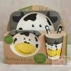 ชุดจาน ชาม ช้อน แก้ว จากเยื่อไผ่ BPA Free ปลอดภัย100%