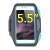 สายรัดแขนวิ่ง สีฟ้า Armband ใส่โทรศัพท์หน้าจอ 5.5 นิ้ว