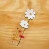 Post it โพสต์อิทเกาหลีลายดอกดาวกระจาย-สีขาว