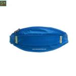 กระเป๋าคาดเอววิ่ง ผ้าร่มกันน้ำ สีฟ้าเข้ม ช่องใส่ของ 3 ซิป Size M