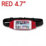 กระเป๋าคาดเอว วิ่ง กันน้ำ สีแดง Touch Screen หน้าจอ 4.7 นิ้ว