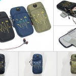 กระเป๋ารัดแขนวิ่ง 2ซิป กันน้ำ ใส่โทรศัพท์ได้ทุกรุ่น มีรูหูฟัง
