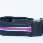 กระเป๋าคาดเอววิ่ง 1 ซิป สีม่วง กระเป๋าเคลือบกันน้ำอย่างดี