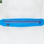 กระเป๋าคาดเอววิ่ง กันน้ำ สีฟ้า 1ซิป มีช่องเสียบหูฟัง
