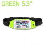กระเป๋าคาดเอว วิ่ง กันน้ำ สีเขียว Touch Screen หน้าจอ 5.5 นิ้ว