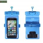 ซองกันน้ำ ดำน้ำ ใส่โทรศัพท์ สีฟ้า ถ่ายภาพใต้น้ำ กันน้ำลึก 30m