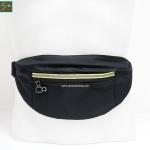 กระเป๋าคาดเอววิ่ง กันน้ำ สีดำ Size L มี 3 ซิป เสียบหูฟังได้