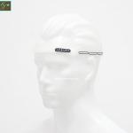 สายซิลิโคนคาดหัวกันเหงื่อเข้าตา สีขาว ZEUS Silicone Sweatband