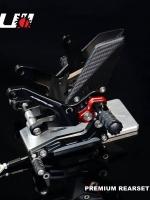 ชุดเกียร์โยง CNC พรีเมี่ยม สำหรับ Kawasaki Z-900 ชุดเกียร์โยงจาก Kamui - ผลิตจากวัตถุดิบคุณภาพสูง - ด้วยกรรมวิธี 3D ทำให้ชิ้นงานมีความละเอียดสวยงาม - มีความสวยงาม แข็งแรง ทนทาน - ใช้น็อตสแตนเลสทุกชิ้น - แป้นพักเท้าสีแดง โดดเด่น สามารถปรับตำแหน่งได้ถึง 8 ร