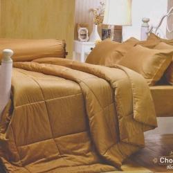 ชุดเครื่องนอน JESSICA สีพื้น Cotton100% ซิลค์ซายน์ สีช็อกโกเเลต Chocolate