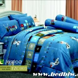 ชุดเครื่องนอน ผ้าปูที่นอน JESSICA Cotton100% โอลาฟ FZC003