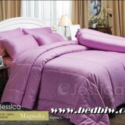 ชุดเครื่องนอน ผ้าปูที่นอน Jessica cotton100% ซิลค์ซายน์ สี Magnolia แมกโนเลีย
