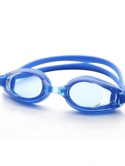 แว่นตาว่ายน้ำสีน้ำเงิน