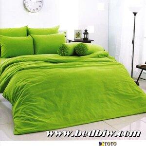 ชุดเครื่องนอนTOTO ชุดผ้าปูที่นอนTOTO สีพื้น สีเขียว