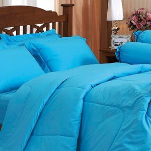 ชุดเครื่องนอน ชุดผ้าปูที่นอน สีพื้น jessica เจสสิก้า สีฟ้า Blue