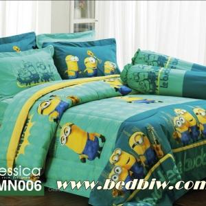 ชุดเครื่องนอน ผ้าปูที่นอน Jessica ลายการ์ตูน มินเนี่ยน รหัส MN006 สำเนา