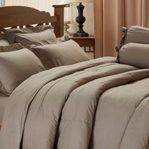 ชุดเครื่องนอน ชุดผ้าปูที่นอน สีพื้นเจสสิก้า jessica สีน้ำตาลอ่อน Light Brown