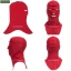 โม่งคลุมหัว สีแดง แบบปิดทั้งหน้า ป้องกันแดด ป้องกันรังสี UV thumbnail 2