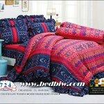 ชุดเครื่องนอน ผ้าปูที่นอน ทิวลิป-tulip ลายคลาสสิค รุ่น 724